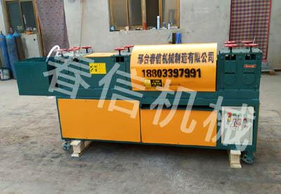 新疆乌鲁木齐钢管调直除锈刷漆机